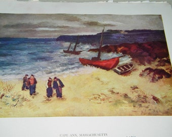 Vintage The East Wind Cape Ann Massachusetts Sol Wilson Print 9069
