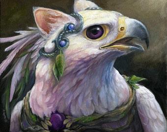 Sylba - Fantasy Gryphon Print