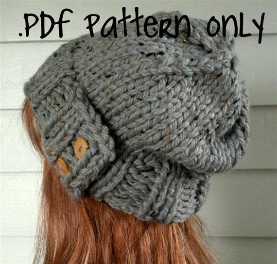 Knit Hat PATTERN Instant Download Knitting by TikiFiberCrafts
