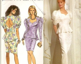 Simplicity 7563, Sewing Pattern, Misses Dress, Jessica McClintock, Two Piece Dress, Formal Dress, Special Occasion, Size 12 14 16, Uncut