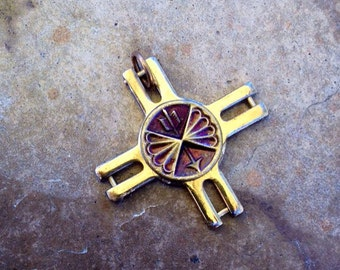 Symbol of Peace and Happiness Native American Inspired Tribal Steampunk Pendant
