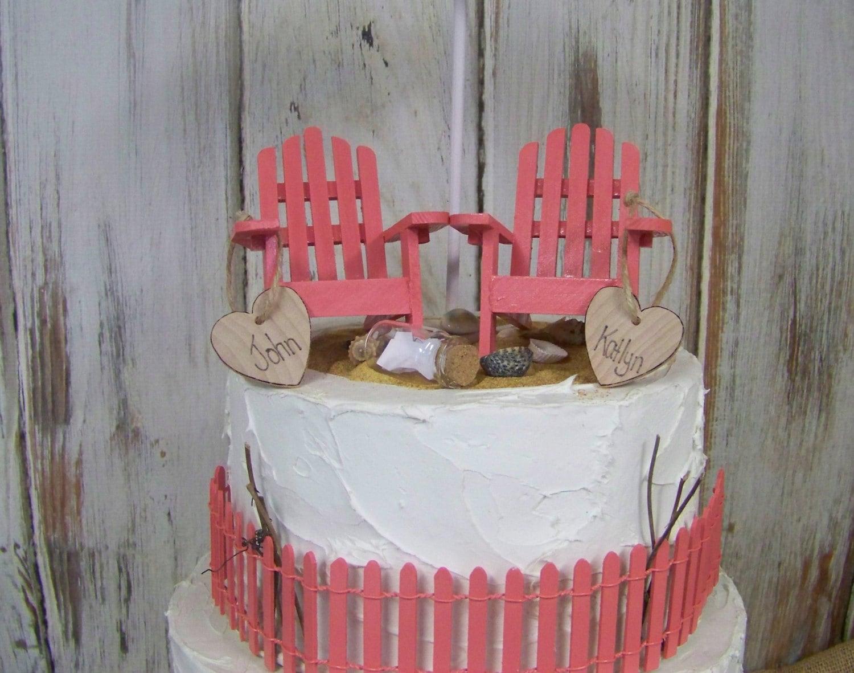 Beach Wedding Cake Topper Adirondack Cake Topper Adirondack Chair