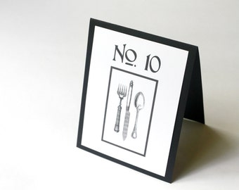 Modern Rustic Table Number Cards, Vintage Style Wedding, Reception Decor, Guest Seating, Guest Tables, Table Numbers, weddings