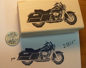 Harley motorcycle rubber stamp WM P10