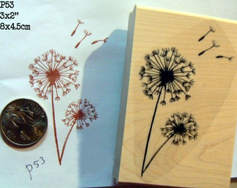 Dandelions rubber stamp P53