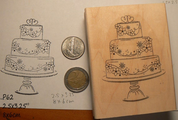 wedding cake rubber stamp p60 from dragonflybuzz on etsy studio. Black Bedroom Furniture Sets. Home Design Ideas
