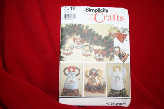 OOP Vintage Uncut Simplicity 7549 Christmas Soft Sculpture