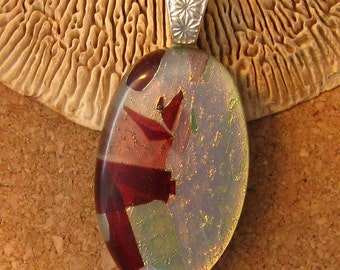 Dichroic Pendant - Fused Glass Pendant - Glass Pendant - Glass Jewelry - Dichroic Jewelry - Fused Glass Jewelry