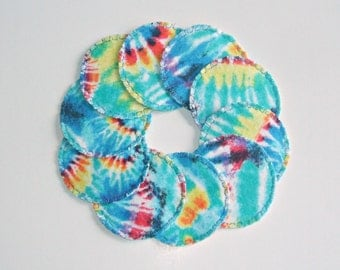 Reusable Cotton Rounds, Make Up Remover Pads, Tie Dye, Toner Pads, Cosmetic Rounds