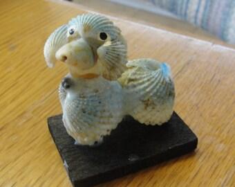 Vintage Sea Shell Dog Figurine