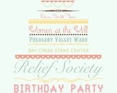 Custom Birthday Party or Wedding Invitation or Poster