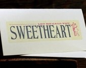 Let Me Call You Sweetheart letterpress card