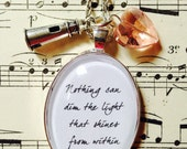 Maya Angelou Nothing can dim the light necklace