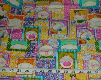 Baby's Firsts Nursery Fabric - 17 inch remnant