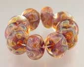 RESERVED FOR LEE...Handmade Lampwork Borosilicate Glass Beads, set of 10, Winsome