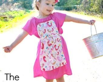 Criss cross tunic pattern ebook reversible pdf 3m 12 peasant dress pattern milkmaid peasant dress 0m 12 girls pdf instant fandeluxe PDF