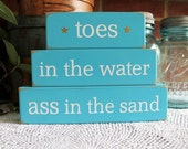 items similar to toes in the water shelf sitter sign