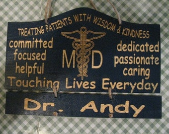Personalized Wooden Doctor Wall Hanging