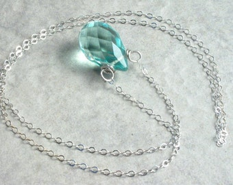 Blue Sky Quartz  Sterling Silver Necklace
