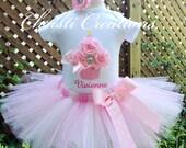 1st Birthday Girl Outfit, Baby Girl Pink Tutu, 3D Cupcake Tutu Set, Pink Birthday Tutu