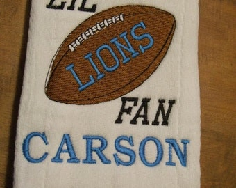 Personalized Football Burp Cloth-Custom Gift Baby/Shower YOU choose design