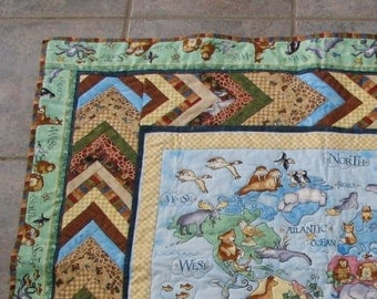 Animals Around the world Quilt With or Without Board Book
