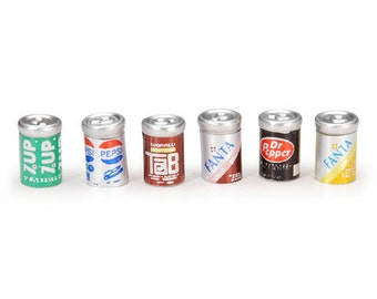 Miniature Assorted Soda Cans