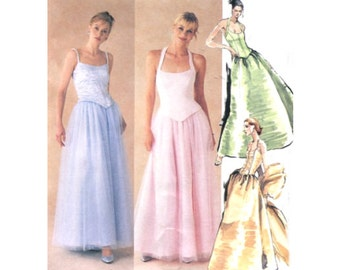 Evening Elegance Skirt / Princess Seam Halter Top / Stole - Sewing Pattern McCalls 9672 Size 12-14-16 - Uncut
