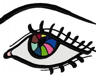 Eye  Machine Embroidery Design  by LetZRocK (2050)