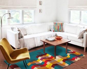 Decorative Rug Modern Rug Carpet Contemporary Rug
