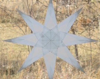 8-Point Waldorf-Inspired White Window Star Suncatcher