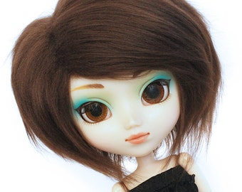 Pullip Doll wig or SD wig dark brown fake fur wig  MonstroDesigns