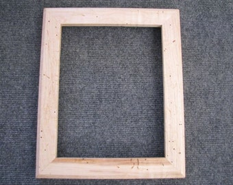 8x10 Lightly Curly Maple with worm tracking Picture Frame M
