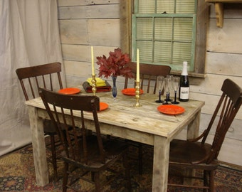"""Driftwood Table (48"""" x 30"""" x 29""""H) (Full Length Boards, No patchwork design)"""