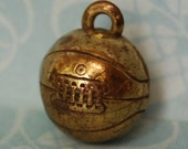 Vintage Trojans Basketball Charm 1920s 30s Gold Filled Bronze USC