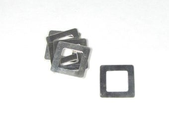 2 - 1 inch square sterling washers 22 gauge really a blast to stamp on