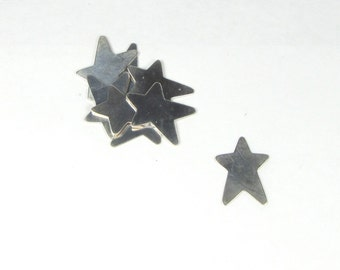 3 sterling 22 gauge Artsy Stars for stamping fun, great for stamping Jazzy