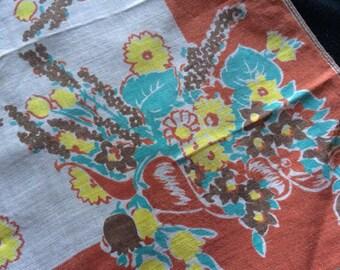 Pretty Floral Print Ladies Handkerchief