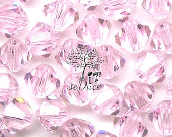 CLEARANCE Sale 60 Swarovski 5301 / 5328 6mm Rosaline Bicone Beads