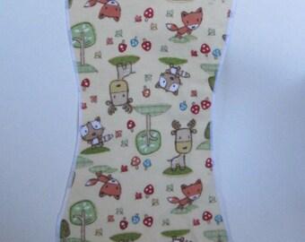 Burp Cloth, woodland animals