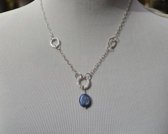 PMC Circle Kyanite Necklace - MacDesigns