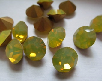 Vintage Swarovski Yellow Opal Rhinestones