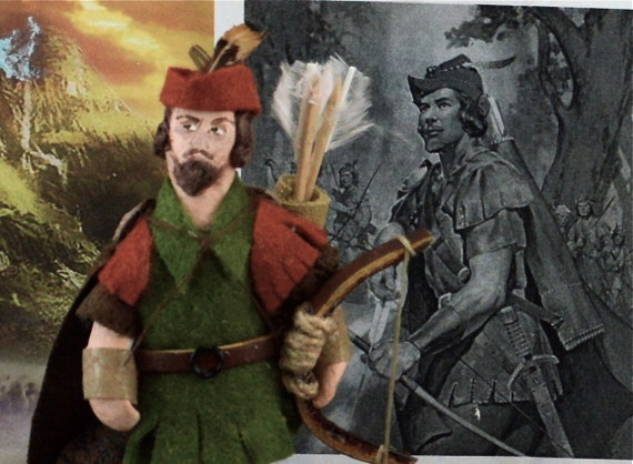 Robin Hood Doll Miniature Literary Character Art One of a Kind