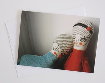 Dolls in love - Greeting Card - Doll photography