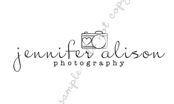 Pre-made CAMERA Photography Business Logo Design and Watermark for Photographers