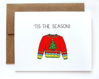 SALE - Funny Christmas Card - Christmas Card - Ugly Christmas Sweater