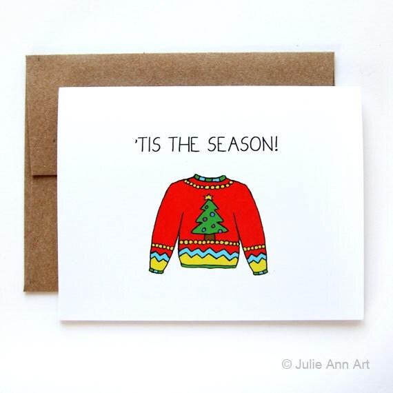 50% off - LAST CHANCE SALE - Funny Christmas Card - Christmas Card - Ugly Christmas Sweater