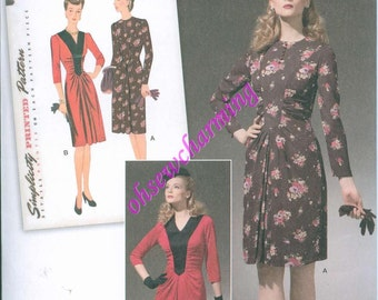 1940s Simplicity 1777 Sewing Pattern Vintage Style Sizes 6-8-10-12-14 WWII Style PLUS size