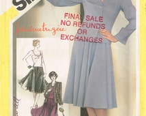 5309 simplicity misses jacket with v-neck, flared skirt, short camisole with shoulder straps sewing pattern size 14 bust 36 vintage 1980s