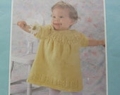 Knit Baby Dresses Pattern Book Leisure Arts